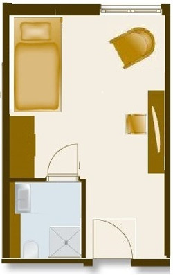 Grundriss Einzelzimer