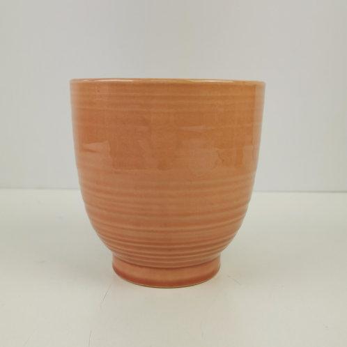 Orange Crackle Glaze Plater