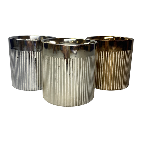 Reflective Raindrop ceramic planter - available in 3 colours - Silver Grey Gold