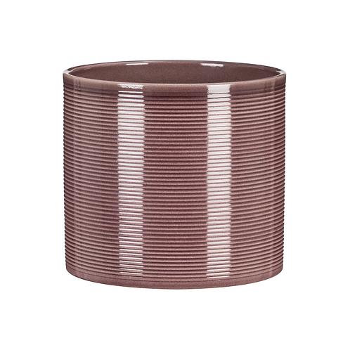 Aubergine Ribbed Ceramic Planter