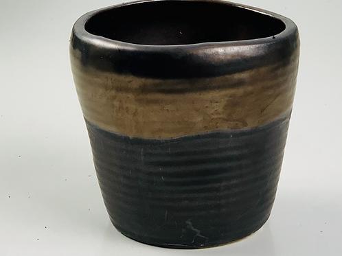 Metallic Rustic Ceramic Planter