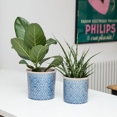 Planter no 151 (Porto Blue Planter)
