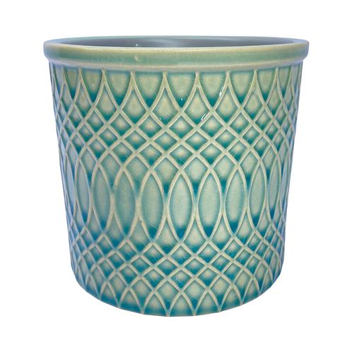 Marrakesh Sea Green Gloss Ceramic Plant Pot