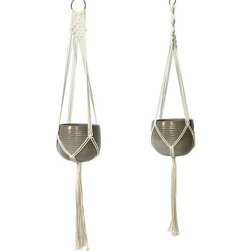 Macrame Hangers - two styles