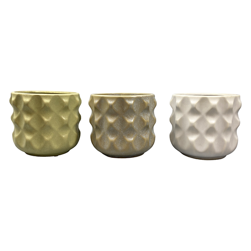 Raised Relief Celtic Ceramic Indoor Planter Pot