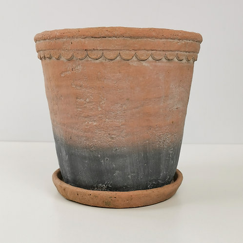 Vintage Terracotta Planter With Saucer