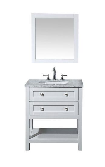 "Marla 30"" Single Sink Vanity with Mirror"