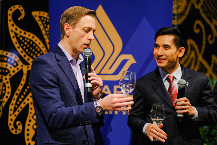 Singapore Airlines Sommelier Chek Wong and MC Karl Schubert