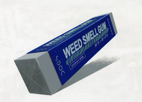 雑草のにおいガム / WEED SMELL 雑草のにおいガム -散歩しないでもいつも糞をする場所の雑草の匂いを味わえるガム- / WEED SMELL GUM -The Special Chewing Gum That Allows Dogs to Enjoy the Scent of the Grass Where They Usually Take a Poop, Without Going for a Walk-