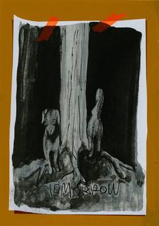 あした -木への巻きつき方で予言ができる犬- / Tomorrow -The Famous Dog Who Shows the Future With Winding Around the Tree-