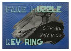 にせものの鼻面キーホルダー -遠隔操作で鼻面を撫でられる犬- / FAKE MUZZLE KEY RING -The Dog Gets Its Muzzle Rubbed by Remote Control-