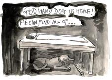 ツボを探す神の手の犬 / The rainmaker dog who can find the pressure points