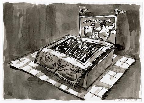 ファミリーチキンのランチボックス / Lunch box of the family chicken