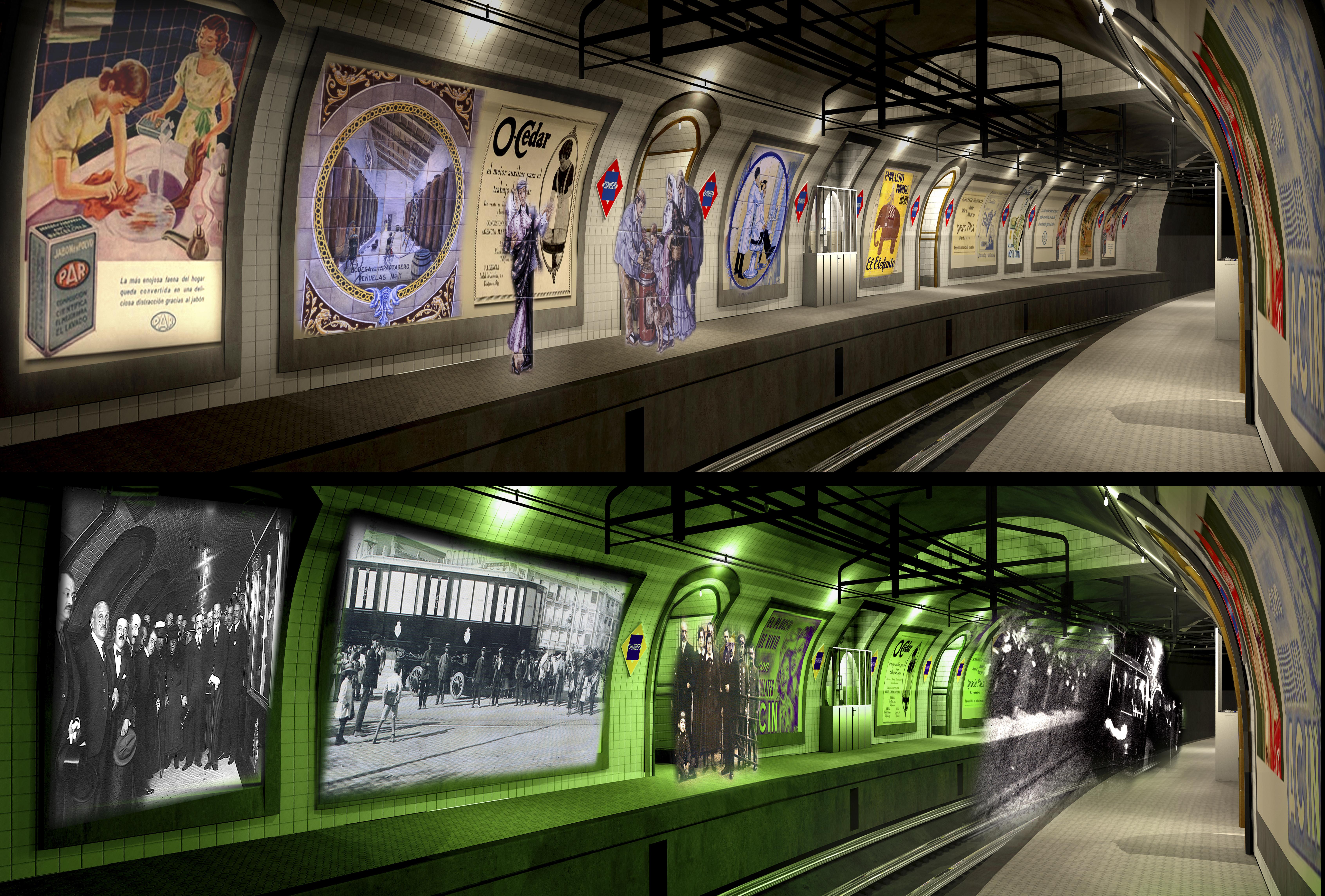 Museo Metro, Estación de Chamberí