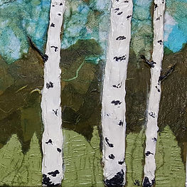 Aspens in Relief