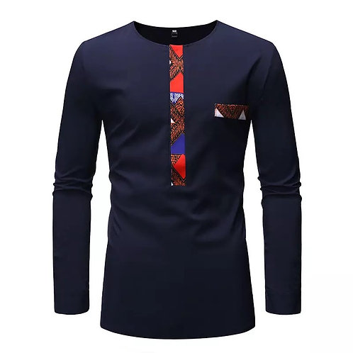 African Men Clothing Print Tshirt Ankara