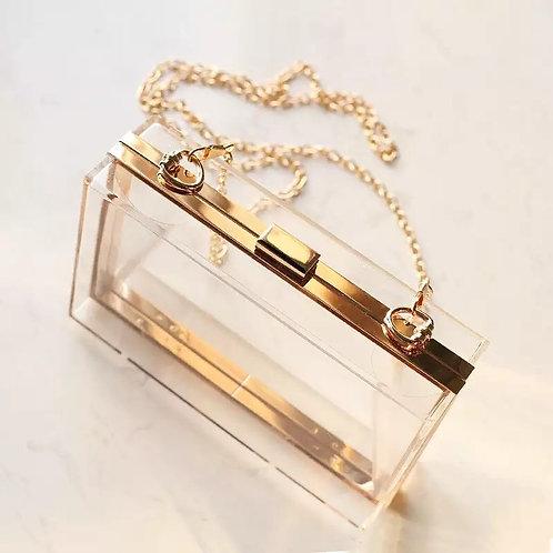 Transparent  bag gold