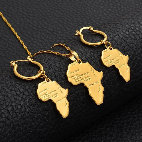 3 piece African map