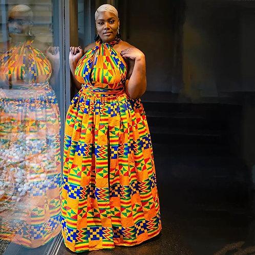 Fashion Elastic Maxi Dress 2019 News Long Robe African Dresses