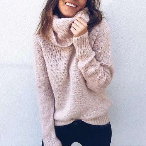 Wholesale- 2016 autumn winter high collar sweater women loose large size turtlen