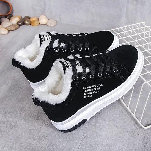 Fur sneakers