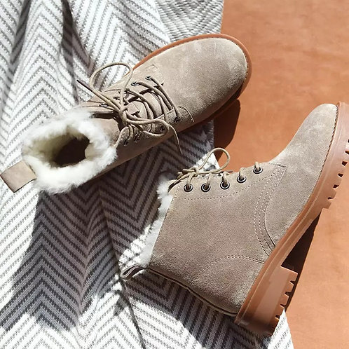 Winter wool snow boots