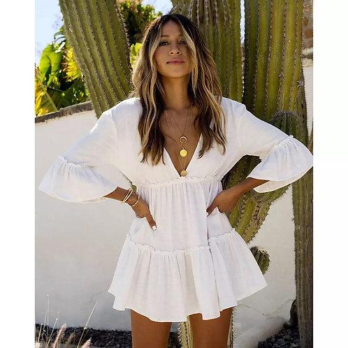 Women  Maxi Dress Sexy Hollow short dress