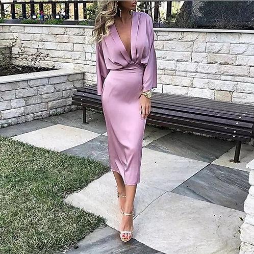 Silk lavender dress