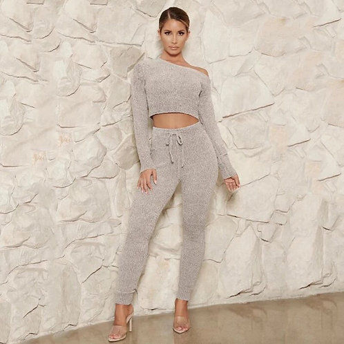 Two piece knitted sweater