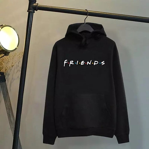 Women Friends Hoodies Harajuku Letters Print Pocket Warm Thicken Pullovers Hip H