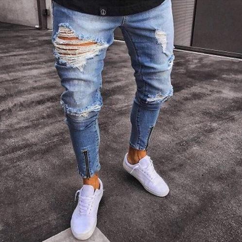 Men's ripped skinny jeans