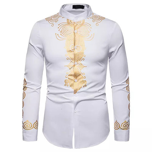 Men's Shirts Ethnic Style slime fit