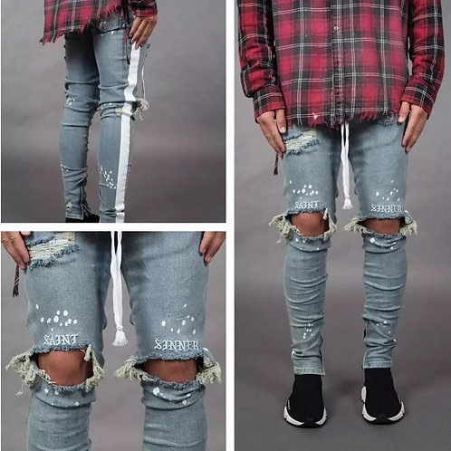 Men Stylish Ripped Jeans
