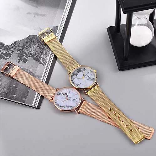 Women's marble watch