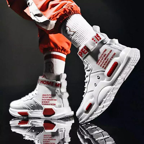 Men's High Top Fashion Leather Sneakers