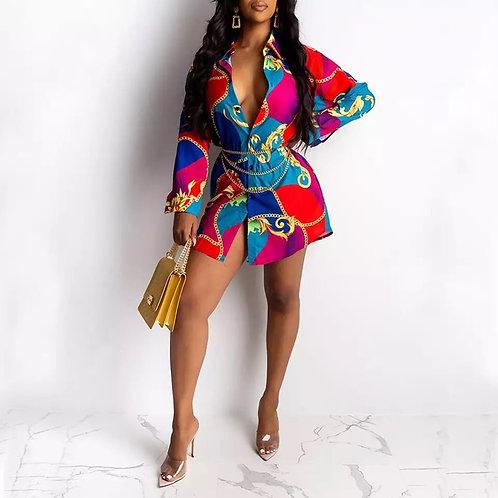 Fadzeco African Dresses for Women Dashiki Shirt