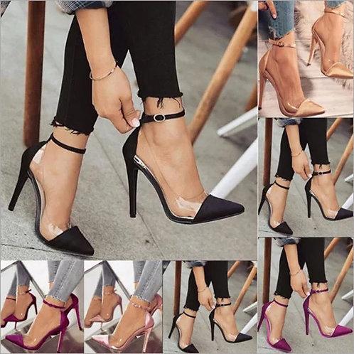 high heels women's prom wedding shoes lady crystal platforms silver Glitter rhin
