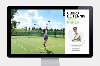 Site pour des cours de tennis