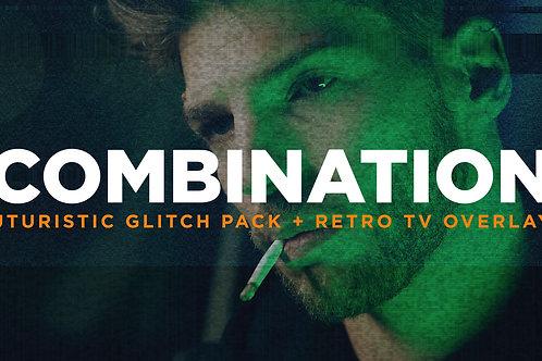 Futuristic Glitch Pack + Retro TV Overlays