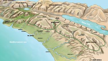Landscape map of Israel