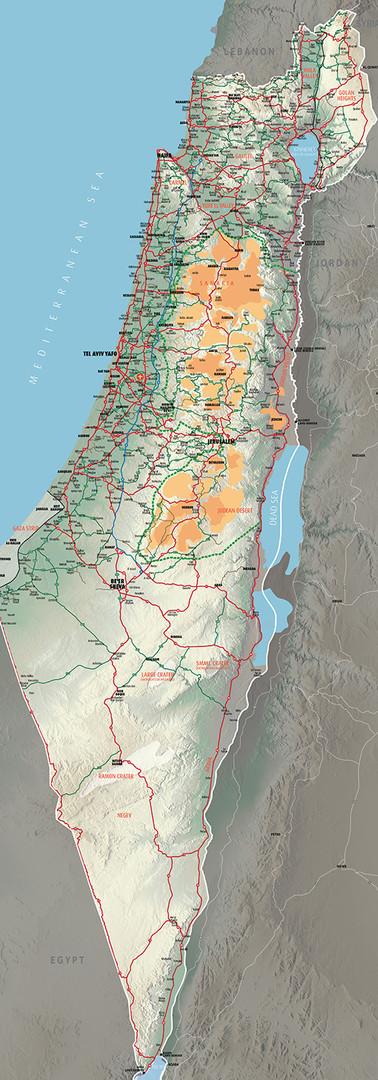 Israel Map 3