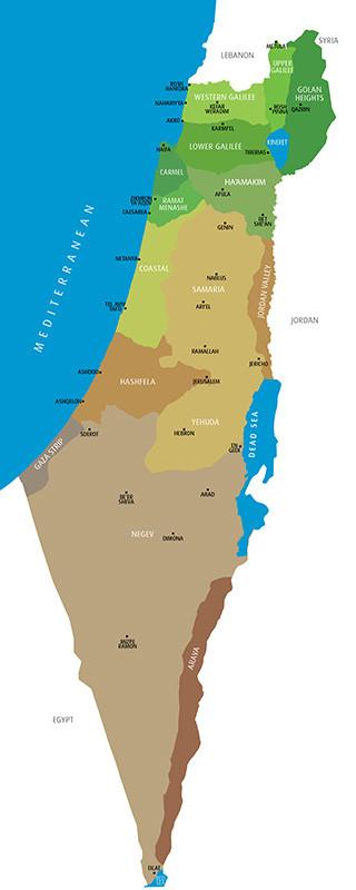 Israel Regions Map