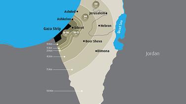Rocket Range from Gaza 1