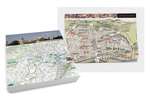 מפת ירושלים בלוק איי 3 | Jerusalem map A3 Block