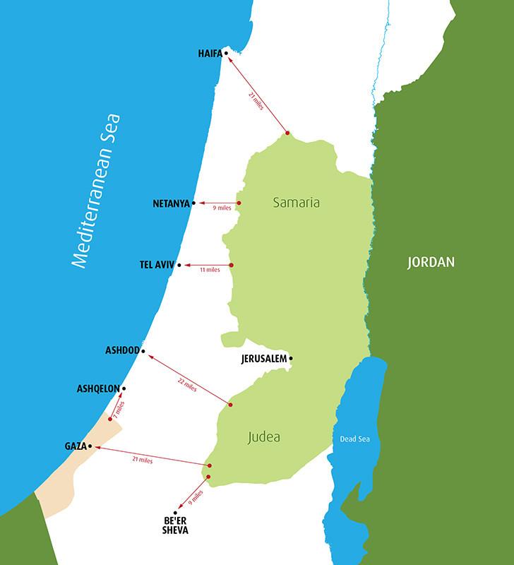 Beer Sheva Israel Map%0A     Israel u    s Narrow Waistline