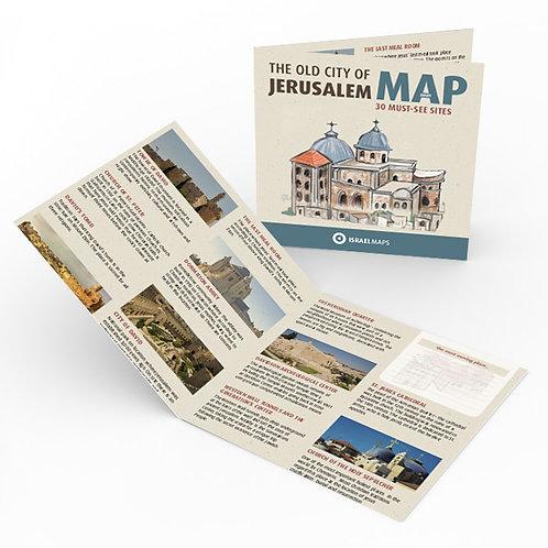 מפת העיר העתיקה בירושלים | Jerusalem Old city map