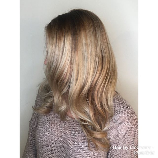 Complete handpainted color #balayage #ha