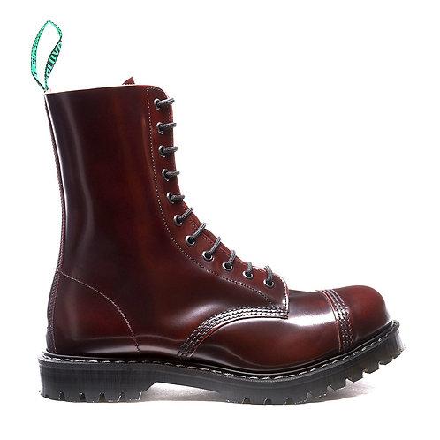 Burgundy Rub-Off 11 Eye Steel Toe Derby Boot