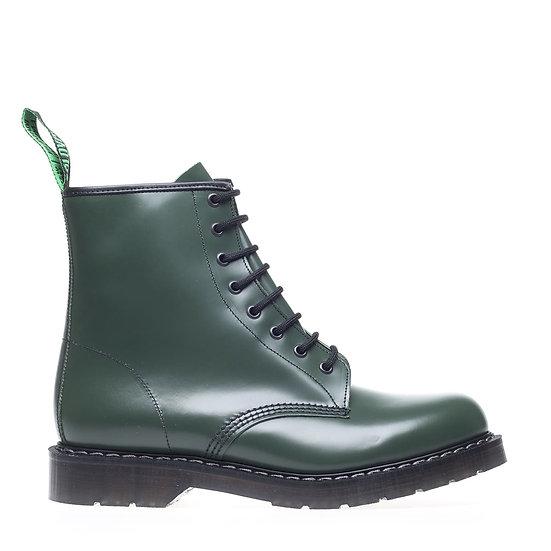 Solovair 8eye Derby boot Green smooth