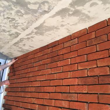 Облицовка стен клинкерным кирпичом